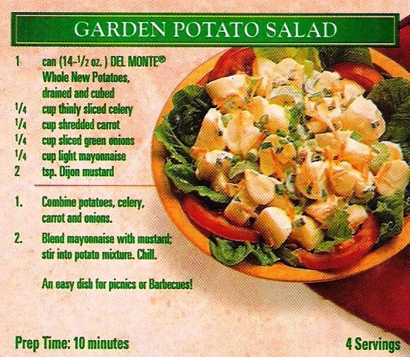 Del monte garden potato salad